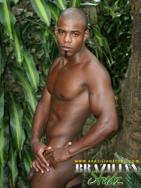 Nude african male model fill