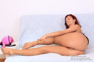You Hairy pussy pantyhose feet consider, that