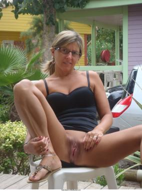 Amateur wives in socks only